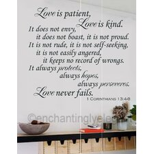 Love is Patent Love is Kind Bible Verse Wall Decal