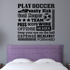 Play Soccer Sports Wall Decal