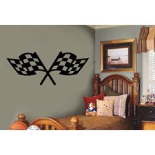 Checkered Racing Flags Sports Wall Decal