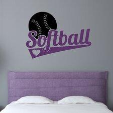Softball Sports Wall Decal