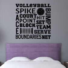 Volleyball Sports Wall Decal