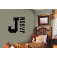 Varsity Letter and Name Sports Wall Decal