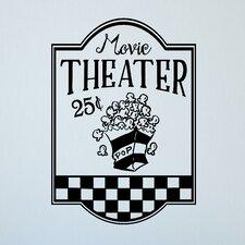 Movie Theater Popcorn Wall Sticker