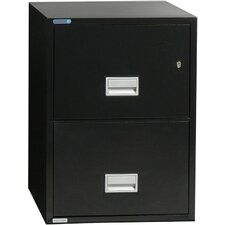 2-Drawer Fireproof Key Lock File Safe