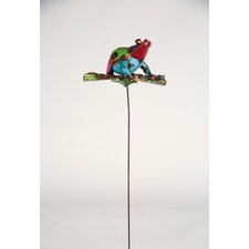 Recycled Metal Frog Garden Stake