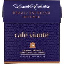 50 Piece Brazil Espresso Intenso Coffee Capsules for Nespresso Machines