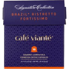 50 Piece Brazil Ristretto Fortissimo Coffee Capsules for Nespresso Machines