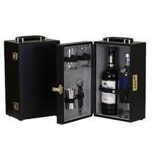 2 Bottle Vinyl Travel Bar