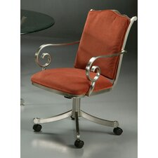 Athena Caster Chair in Brushed Steel