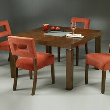 """Fendini 48"""" Square Wood Dining Table in Mocha Bisque"""