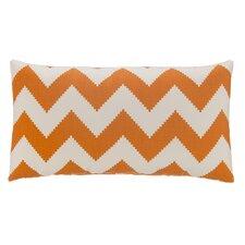 Chevron Velvet Lumbar Pillow