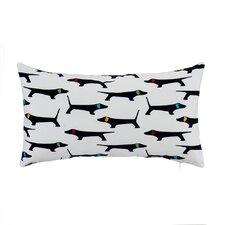 Mongrel with Bone Velvet Lumbar Pillow Case