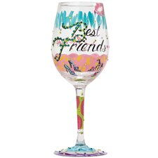 Best Friends Always All Purpose Wine Glass