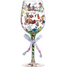 Mum You're Amazing All Purpose Wine Glass