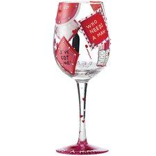 Who Needs a Man All Purpose Wine Glass