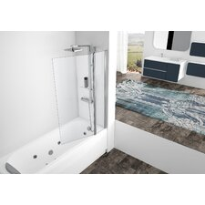 Aurora 150cm x 98cm Pivot Bath Screen