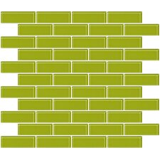 """1"""" x 3"""" Glass Subway Tile in Lime Green"""