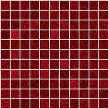 "1"" x 1"" Glass Mosaic Tile in Red"