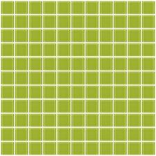 """1"""" x 1"""" Glass Mosaic Tile in Lime Green"""