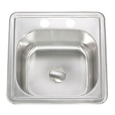 "Apogee 15"" x 6"" Stainless Steel Topmount Kitchen Sink"
