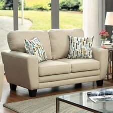 Natali Plush Cushion Fabric Upholstered Loveseat