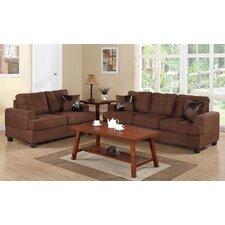 Biola 2 Piece Sofa and Loveseat Set