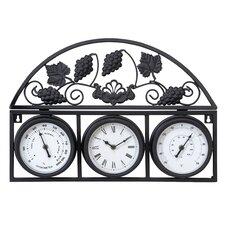 All Weather Metal Outdoor Clock