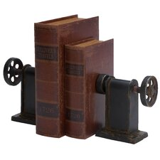 Industrial Classic Lathe Book End (Set of 2)