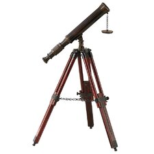 Decorative Brass/Wood Nautical Telescope