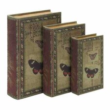 3 Piece Classic Book Shaped Box Set