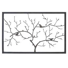 Traditional Wrought Iron Birds on Branches Wall Décor