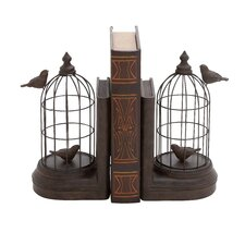 Bird Cage Book Ends (Set of 2)