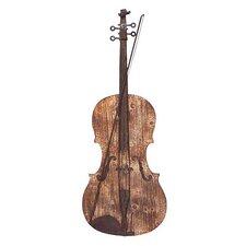 Natural Wood Grain Violin Wall Décor