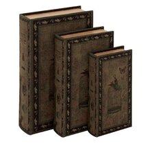 3 Piece Bird Cage Fake Book Box Set