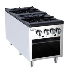 Double Gas Stock Pot Stove