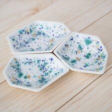 3 Piece Small Geometric Ring Dish Set in Seawind
