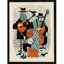 Brushyfork Bluegrass Framed Graphic Art