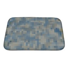 Primo Abstract Colorful Square Mosaic Oil Painted Bath Mat/Rug