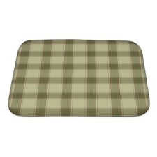 Picnic Plaid in Soft Tones with Terra Cotta Accents Bath Mat/Rug