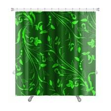 Bravo Floral Ornament with Leafs and Flowers, Vintage Premium Shower Curtain