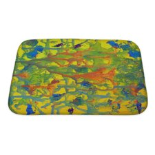 Art Touch Abstract Colorful Painted on Paper Bath Mat/Rug