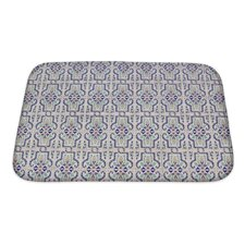 Alpha Medieval Tiles with Traditional Islamic Pattern Decor Bath Mat/Rug