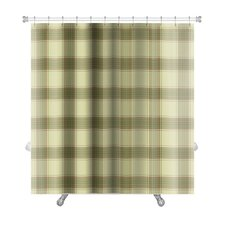 Picnic Plaid in Soft Tones of with Terra Cotta Accents Premium Shower Curtain