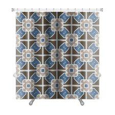 Creek Geometric Islamic Wallpaper Arabic Colorful Premium Shower Curtain
