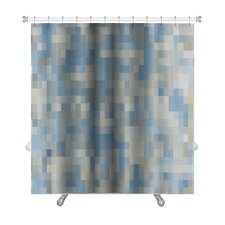 Primo Abstract Square Mosaic Oil Painted Premium Shower Curtain