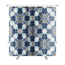 Delta Geometric Islamic Wallpaper Arabic Colorful Premium Shower Curtain