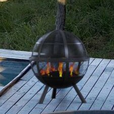 Sphere Steel Wood Fire Pit