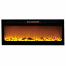 Reno Log Wall Mount Electric Fireplace