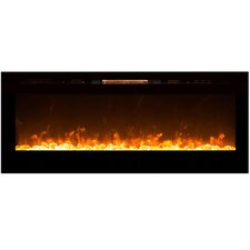 Alpine Crystal Wall Mount Electric Fireplace