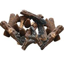 18 Piece Petite Ceramic Wood Gas Log Set